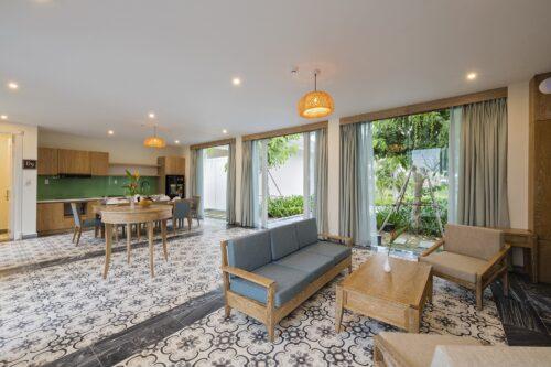 Nội thất phòng tại Cocoland River Beach Resort and Spa